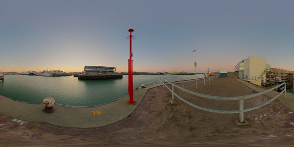 Dutch Free 360° HDRI – 002 | Harbour scene with boats panoramic version 002c