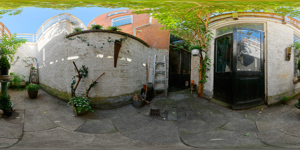 Dutch Free 360° HDRI – 004 | Backyard scene panoramic version