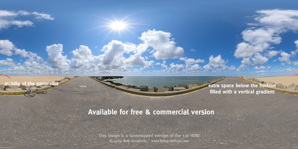 Dutch Free 360° HDRI – 006 | Free Dutch Skies 360° HDRI (11K) scene panoramic version Incl. horizon retouched HDRI available in the free and commercial version