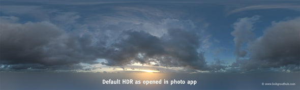 Dutch Free 360° HDR – 023 | Free Dutch Skies 360° HDR (19K) scene - Horizon Retouched default look HDR as opened in photo app