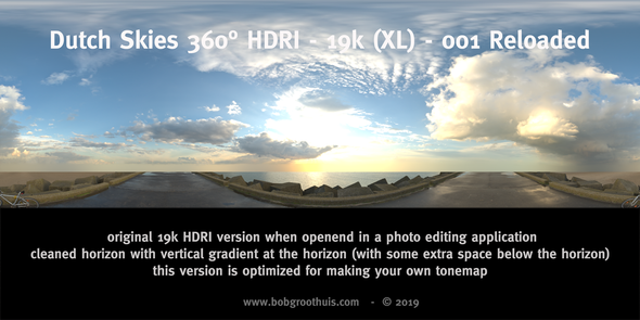 Dutch Skies 360° HDRI - 19k (XL) - 001 Reloaded