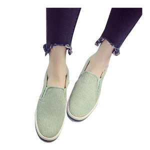 HEE GRAND Women's Flats For 2017 Spring Slip On Casual Shoes Woman Canvas Shallow Slip On Loaftes Women Vulcanize Shoes XWD5680