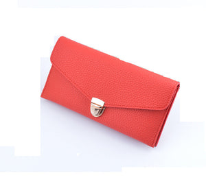 Women 's Long Section of Solid Color Fashion Wallet Female Hand Bags