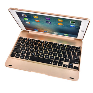 For 2016 Creative iPad  Pro 9.7 Air 2 Clavier Bluetooth Smart Creative iPad Pro 9.7 Air 2 Bluetooth Wireless Keyboard Case ABS Stand (Color: Grey,Silver,Gold,Rose Gold)