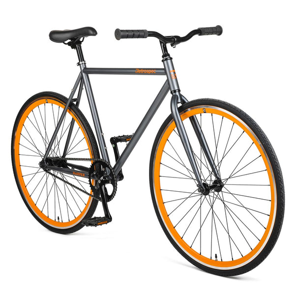 Bicicleta Retrospec Harper Coaster Graphite & Orange