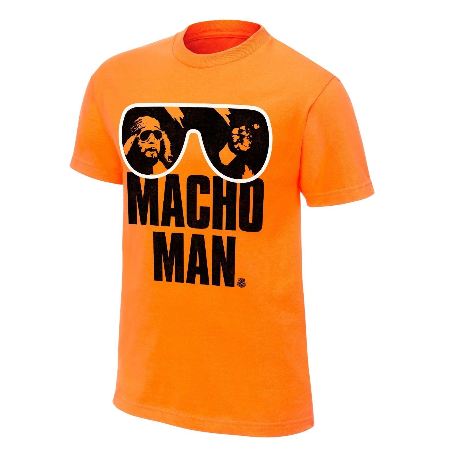 Wwe Macho Man Randy Savage T-Shirt Orange Mens Wrestling Retro Wrestler Tee Mens T-Shirts Fashion 2019 Casual Slim Fit T Shirts