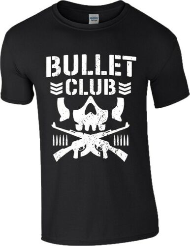 Bullet Club New Japan Pro Wrestling T-Shirt  WWE ufcc Guns Skull Gym Mens TopTops wholesale Tee custom Environtal printed Tshirt