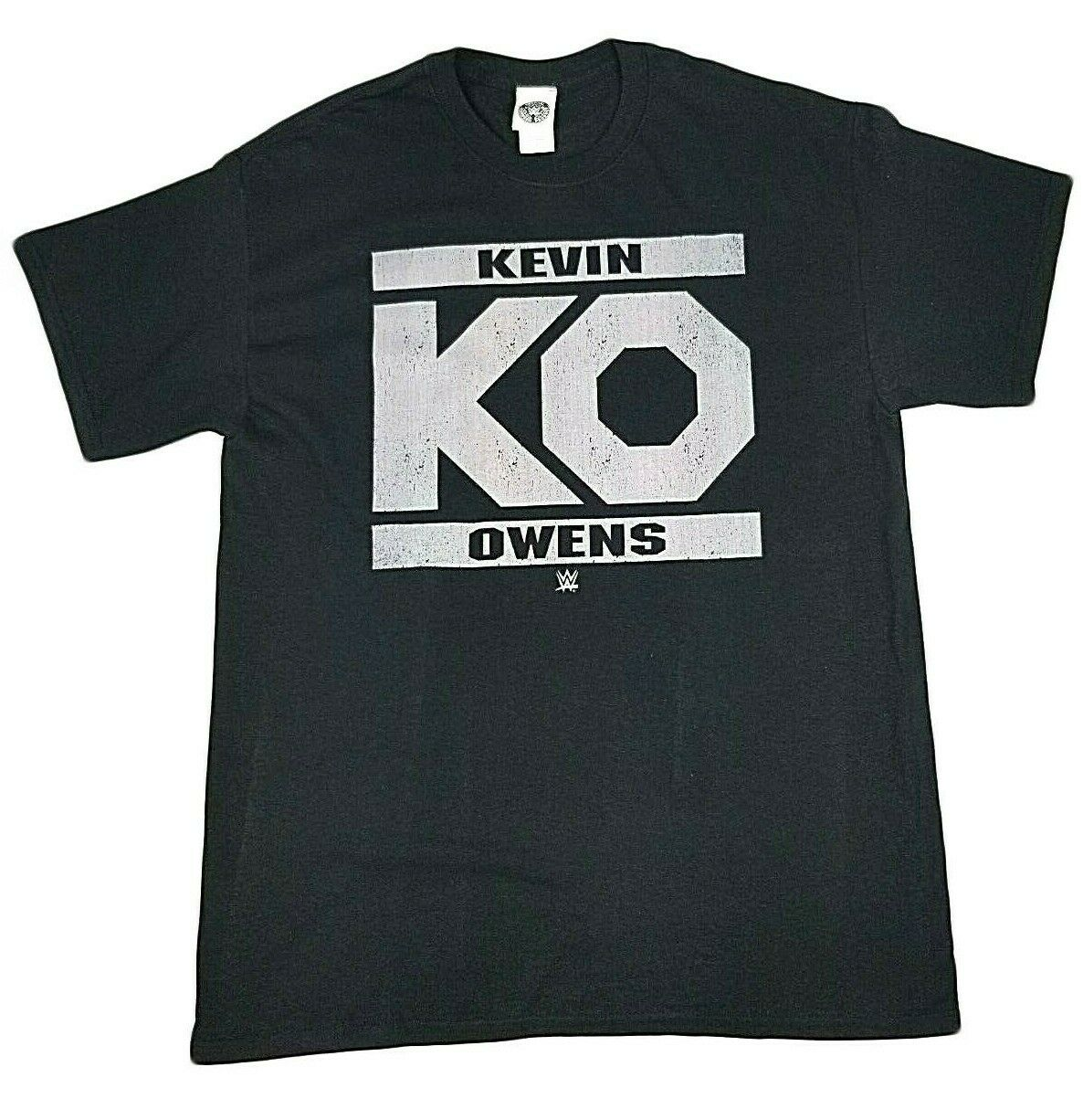 WWE KEVIN OWENS KO T-SHIRT BLACK MENS RETRO WRESTLER TEE BRAND NEW