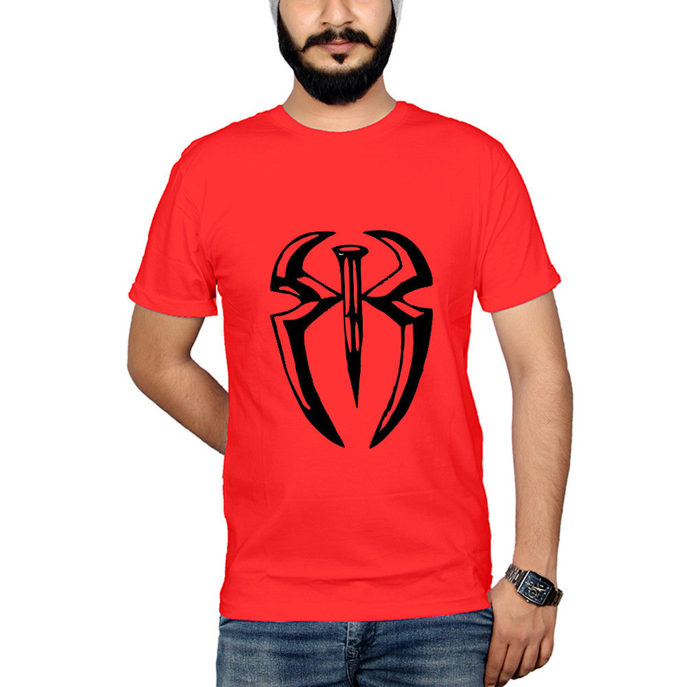 WWE/WWF WRESTLING - ROMAN REIGNS - LARGE - RED T-SHIRT- COTTON TEE SUMMER SALE  Cool Casual pride t shirt men Unisex Fashion