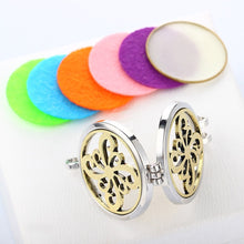 Pinwheel Pattern Stainless Steel Locket Pendant Aromatherapy Essential Oil Fragrance Necklace +7 Washable Pads