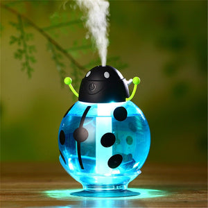 Ladybug LED Light USB Humidifier - Essential Oil Aroma Air Diffuser