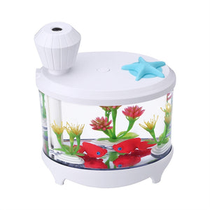 Mini Humidifier Night Light Air Fresher USB Fish Tank Ultrasonic Atomization Aroma Diffuser