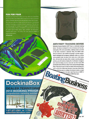Airhead Switchback featured in Boating Business Guide Canada March Issue