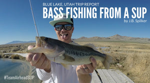 Bass Fishing From a SUP on Blue Lake in Utah