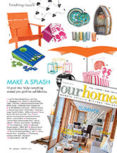 Our Homes Magazine features Lob the Blob in MAKE A SPLASH