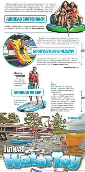 PDB Magazine's Ultimate Water Toy Roundup features 3 new for 2014 Kwik Tek products