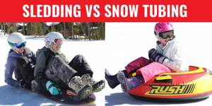 Sledding versus Snow Tubing