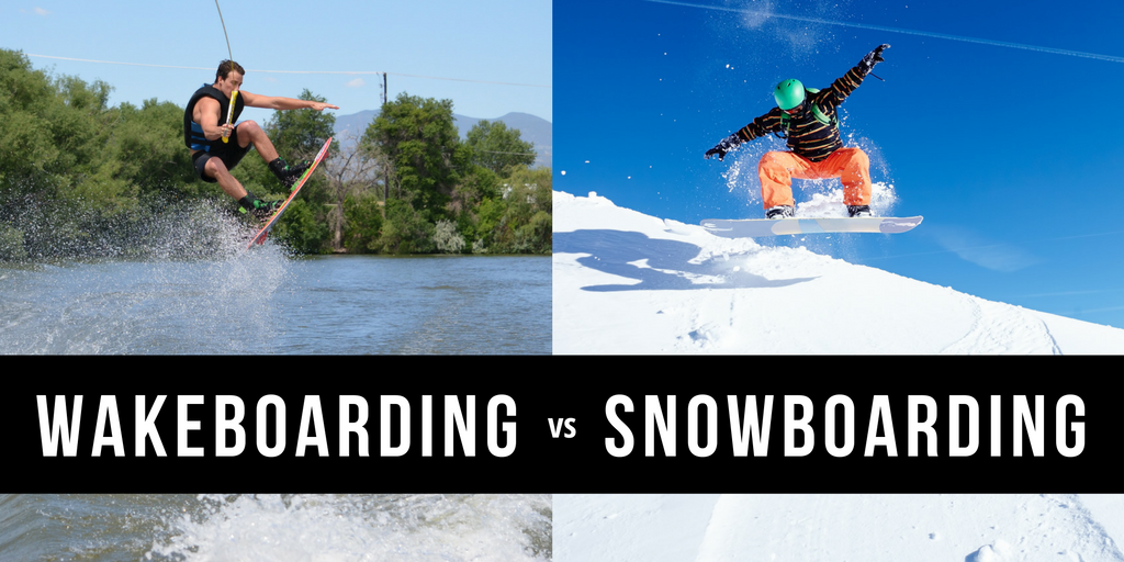 Similarities and Differences Between Snowboarding and Wakeboarding