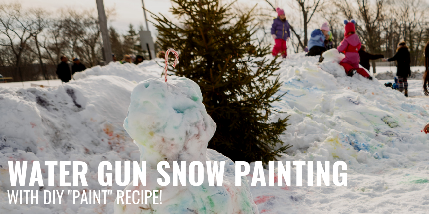 Water Gun Snow Painting (with DIY Paint Recipe!)