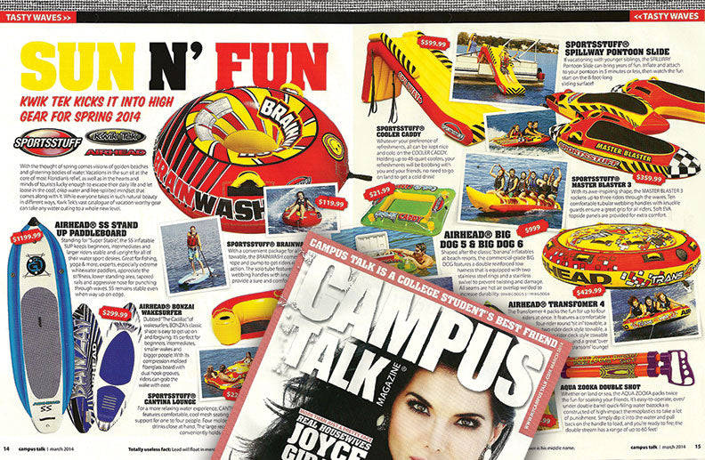 airhead and sportsstuff inflatables in campus talk