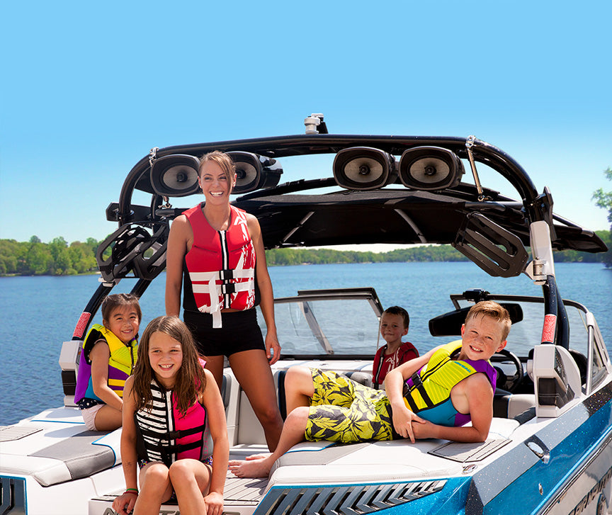 Make sure kids are wearing lifejackets