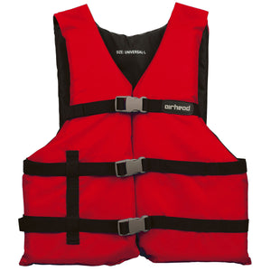 Airhead-General Boating Child-Adult PFD-Red / Adult Universal