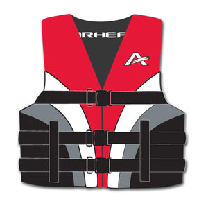 Airhead-Family Youth Nylon PFD, Red, Gray, White-