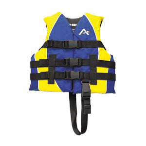 Airhead-Classic Family Child-Adult Life Vest-Blue/Yellow / Child