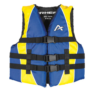 Airhead-Classic Family Child-Adult Life Vest-Blue/Yellow / Youth