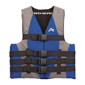 Airhead-Classic Family Child-Adult Life Vest-Blue/Gray / 2XL/3XL