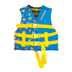 Airhead-Crayon Fish Child Life Vest-Blue