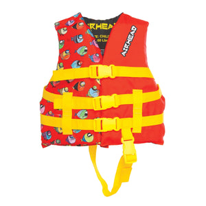 Airhead-Crayon Fish Child Life Vest-Red