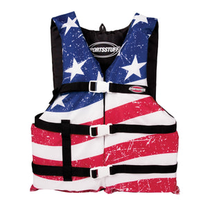 Airhead-General Boating Child-Adult Universal PFD, Stars & Stripes-Adult Universal