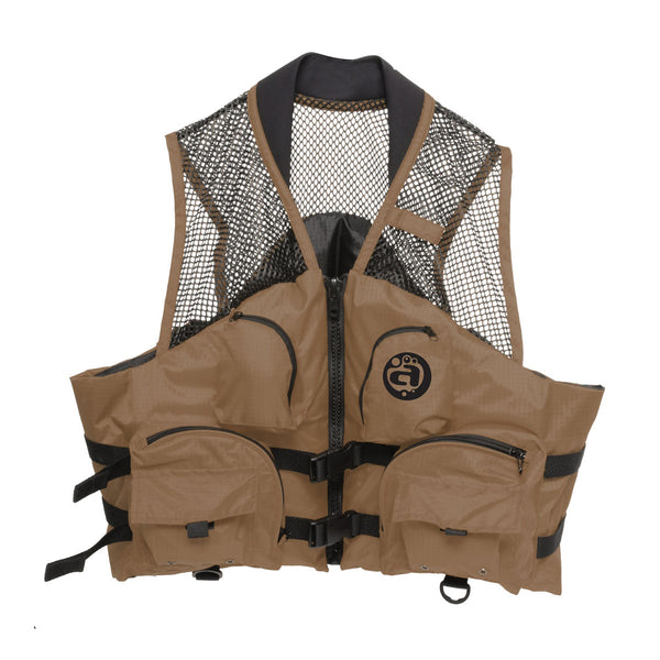 Airhead-Fishing Deluxe Adult Life Vest-Bark / 2XL/3XL