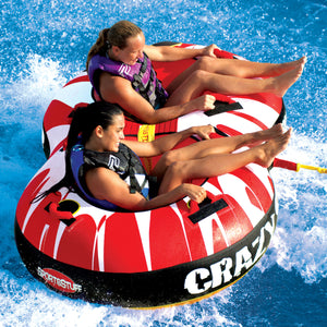 Crazy 8 - 2 person inflatable tow tube with 2 tow points for different rides