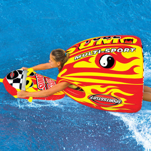 Sumo & Splash Guard Combo - Inflatable suit and tow handle