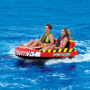 Speedzone 2 - inflatable 2 person cockpit tube for towing behind a boat