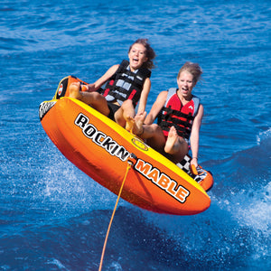 Rockin Mable - inflatable 2 person towable tube with 2 tow points