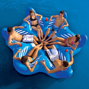 Pool & Beach 6UP Lounge - 6 person round inflatable island