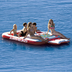 Cool Island - inflatable party island seats 6 people, mesh seating and cup holders