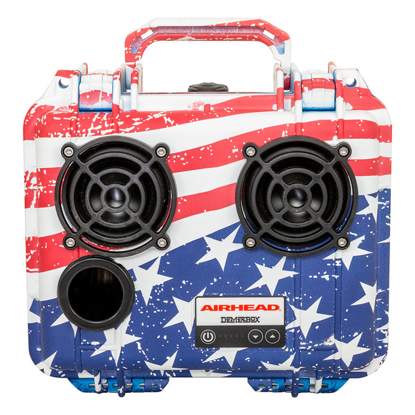 Airhead-Demerbox Waterproof Outdoor Bluetooth Speaker: Stars & Stripes-