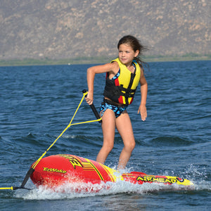 EZ Wake Trainer - inflatable ski and board trainer - removable body board