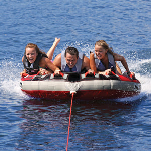 G-Force 3 - 3 person D-Shaped inflatable boat tube with stabilizer fins