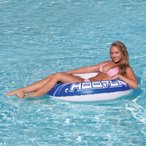Hoopla - 1 person round inflatable float - 42 inch (deflated) - heavy gauge PVC
