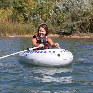 Inflatable Boat - 1 person vinyl inflatable 60 inch long boat for pools and lakes