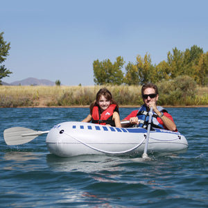 Inflatable 2 person boat - heavy duty vinyl - 76 in. x 46 in., 16 gauge