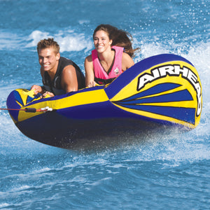 Matrix V2 - inflatable 2 rider tow tube with wings with neoprene knee, elbow and knucle guards