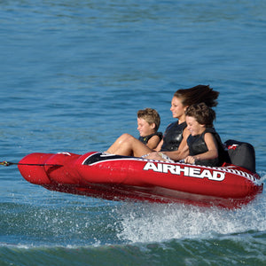 Viper 3 - three rider inflatable towable boat tube has 3 cockpit seats