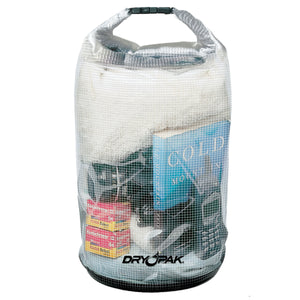 "Airhead-Roll Top Dry Bags (12.5"" x 28"")-Mesh Reinforced Clear"