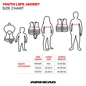 Airhead-Sportsman Youth & Adult Life Vest-